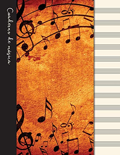 9781096737612: Cuaderno de música: Cuaderno de pentagramas - Cubierta marrón (Cuadernos de música)