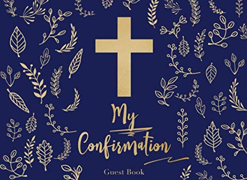 9781096795247: My Confirmation Guest Book: A bold contemporary design with modern graphic flower line drawings | For 250 guests and their messages