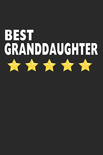 """9781097105847: Best Granddaughter: Lined Journal, Notebook, Diary For Girls & Women, Gift From Grandparents (6"""" x 9"""" 100 Pages)"""