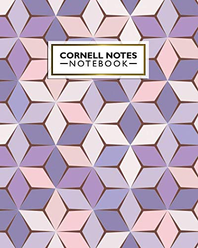 9781097312849: Cornell Notes Notebook: Nifty Large Cornell Note Paper Notebook. Cute College Ruled Medium Lined Journal Note Taking System for School and University - Trendy Purple & Beige Honeycomb Print