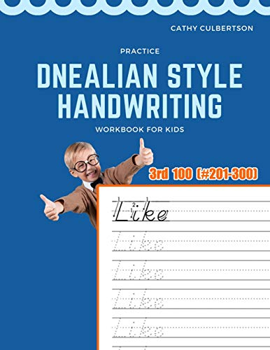 9781098575304: Practice Dnealian Style Handwriting Workbook for Kids: Tracing and review 3rd 100 Fry Sight Words book (1000 Fry Sight Words Dnealian Handwriting)