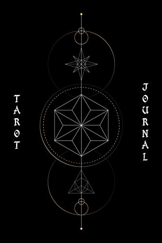 9781099203688: Tarot journal: A daily reading tracker and notebook: Track your 3 card draw, question, interpretation, notes: Vintage style black cover