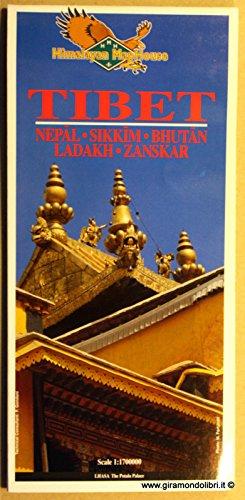9781100001074: CARTA GEOGRAFICA - Tibet - Nepal - Sikkim - Bhutan