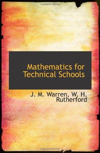 9781103177370: Mathematics for Technical Schools