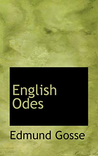 English Odes: Gosse, Edmund
