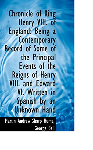 9781103215508: Chronicle of King Henry VIII. of England