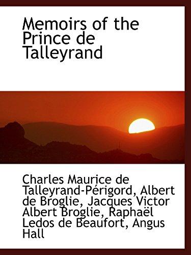 9781103267941: Memoirs of the Prince de Talleyrand