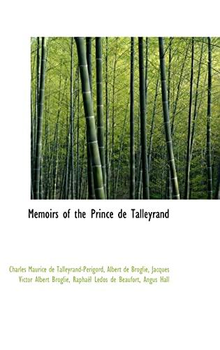 9781103268023: Memoirs of the Prince de Talleyrand