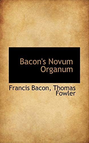 9781103383252: Bacon's Novum Organum