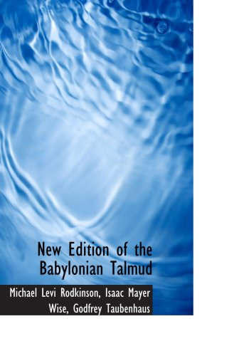 9781103441426: New Edition of the Babylonian Talmud