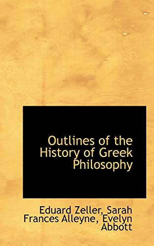 9781103572922: Outlines of the History of Greek Philosophy