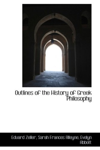 9781103572953: Outlines of the History of Greek Philosophy