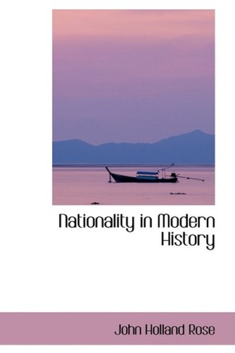 9781103594481: Nationality in Modern History