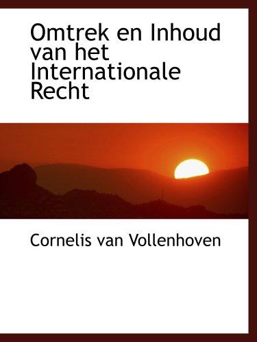 9781103598793: Omtrek en Inhoud van het Internationale Recht
