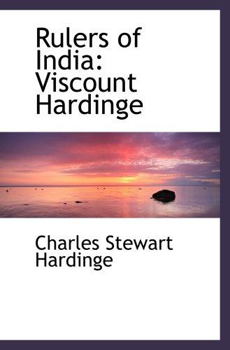 9781103608584: Rulers of India: Viscount Hardinge