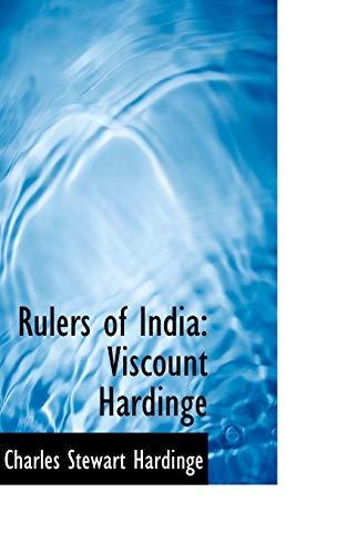 9781103608614: Rulers of India: Viscount Hardinge