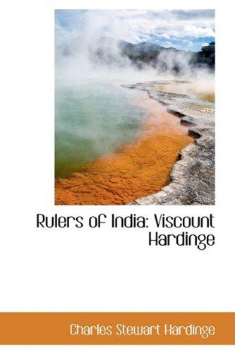 9781103608669: Rulers of India: Viscount Hardinge