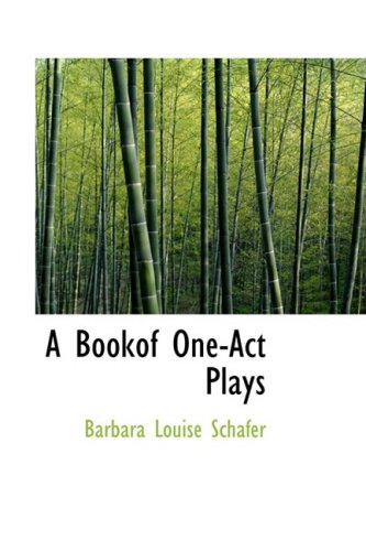 9781103634576: A Bookof One-Act Plays