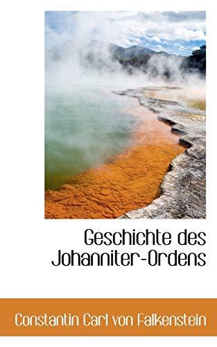 9781103671021: Geschichte Des Johanniter-ordens