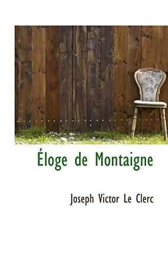 9781103697014: Éloge de Montaigne