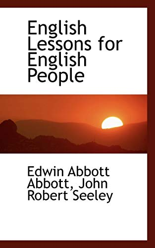9781103823642: English Lessons for English People