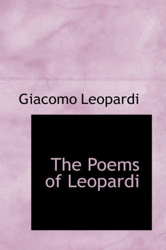 9781103831852: The Poems of Leopardi
