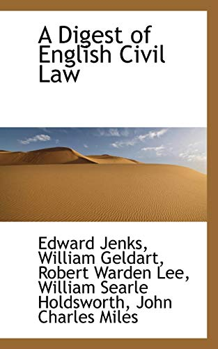A Digest of English Civil Law Jenks,