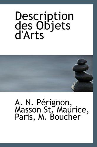 9781103841448: Description des Objets d'Arts