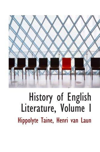 9781103856268: History of English Literature, Volume I