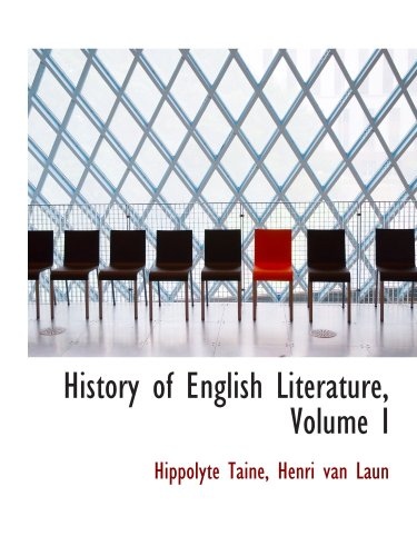 9781103856305: History of English Literature, Volume I