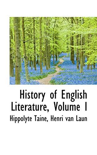 9781103856367: History of English Literature, Volume I