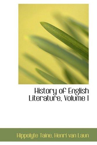 9781103856428: 1: History of English Literature, Volume I