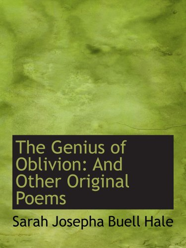 9781103871742: The Genius of Oblivion: And Other Original Poems