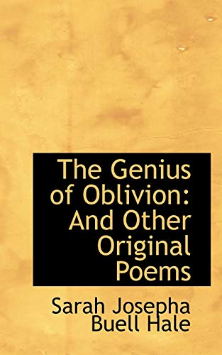 9781103871797: The Genius of Oblivion: And Other Original Poems