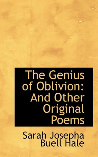 9781103871865: The Genius of Oblivion: And Other Original Poems