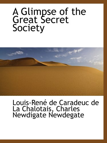 9781103876891: A Glimpse of the Great Secret Society