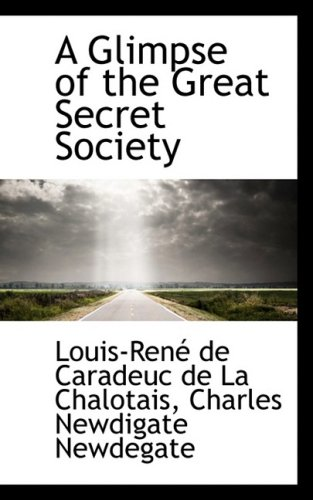 9781103877003: A Glimpse of the Great Secret Society