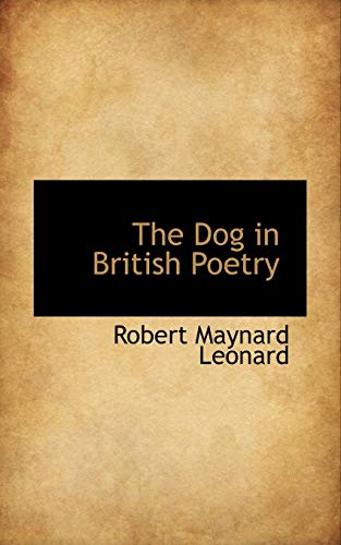 9781103942619: The Dog in British Poetry
