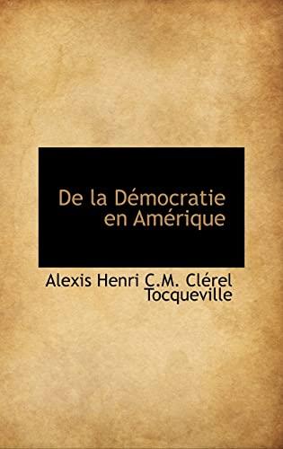 9781103959501: De la Démocratie en Amérique (French Edition)