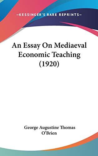 9781104030759: An Essay On Mediaeval Economic Teaching (1920)