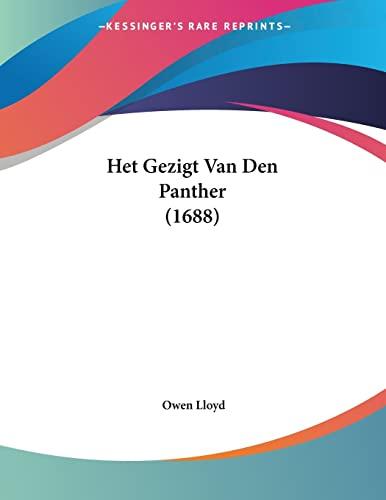 9781104059132: Het Gezigt Van Den Panther (1688) (Dutch Edition)