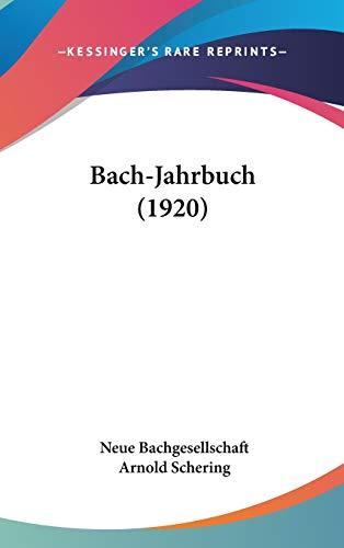 9781104073527: Bach-Jahrbuch (1920)