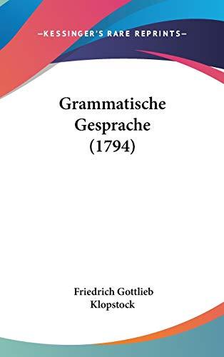 9781104108984: Grammatische Gesprache (1794)