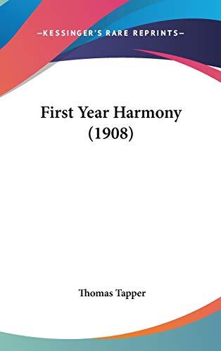 9781104155070: First Year Harmony (1908)