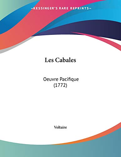 9781104234355: Les Cabales: Oeuvre Pacifique (1772) (French Edition)