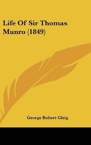 9781104350826: Life Of Sir Thomas Munro (1849)