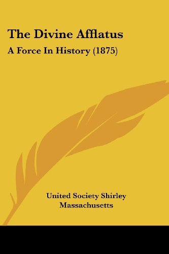 9781104387433: The Divine Afflatus: A Force In History (1875)