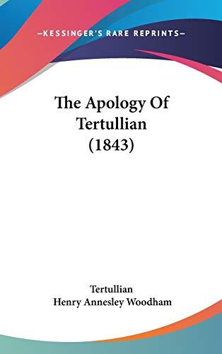 9781104434427: The Apology Of Tertullian (1843)