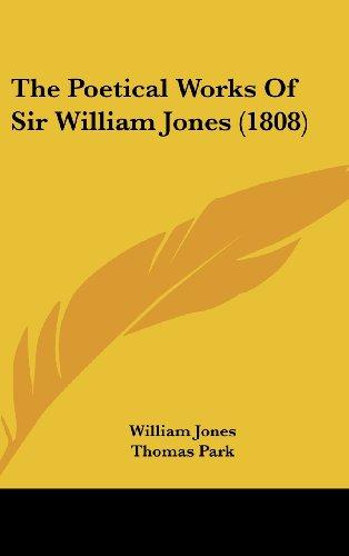 9781104445324: The Poetical Works Of Sir William Jones (1808)