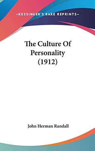 9781104454791: The Culture Of Personality (1912)